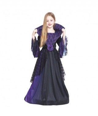 Disfraz Vampiresa Lila Flor para Niña