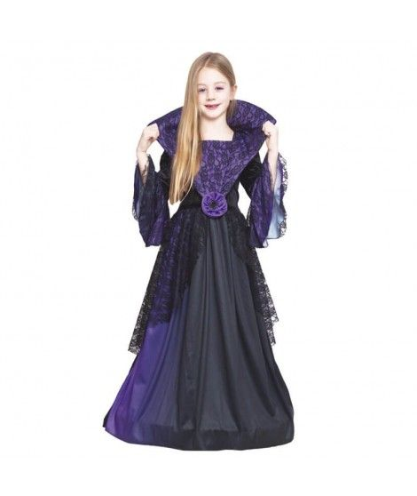 752f4d6aa Disfraz Vampiresa Lila Flor para Niña