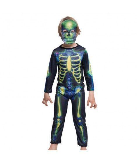 Disfraz Esqueleto Colores Print Infantil