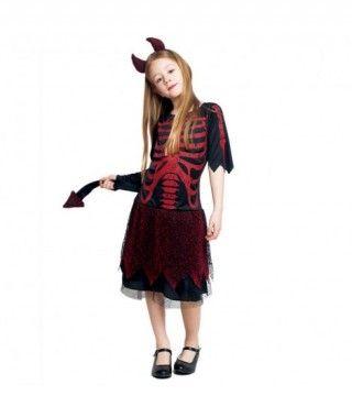 Disfraz Diablesa Esqueleto para Niña