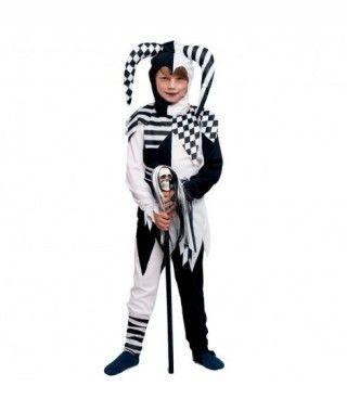 Disfraz Bufón Negro para Niño