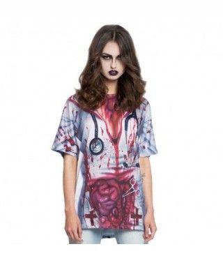 Camiseta Print Enfermera Zombie Unisex