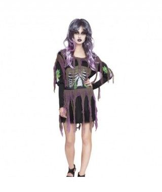Disfraz Esqueleto Lila para Mujer