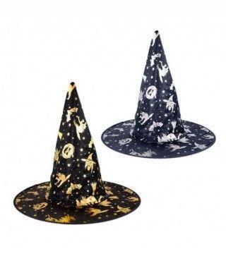 Sombrero Bruja Print Oro/Plata