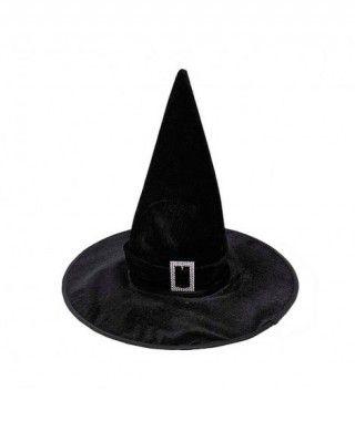 Sombrero Bruja Negro Terciopelo