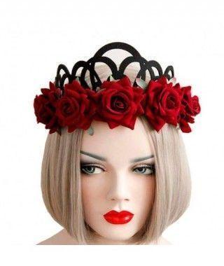 Corona Oscura Aro de Rosas Fieltro
