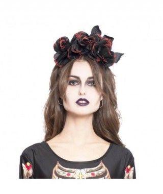 Diadema Halloween Rosas Negras
