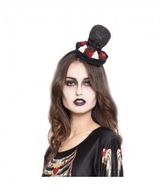 Diadema Halloween Glitter Skull