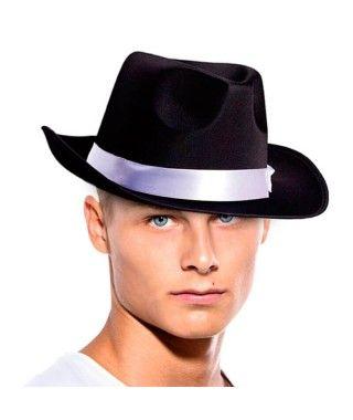 Sombrero Gangster Negro Fieltro