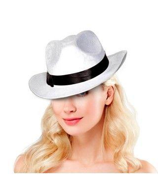 Sombrero Gangster Blanco Fieltro