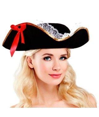 Sombrero Pirata de Mujer Accesorio