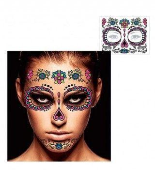 Tatuaje Temporal Catrina Flores