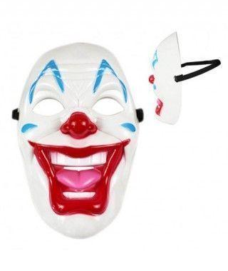 Máscara Payaso Siniestro Carcajada PVC