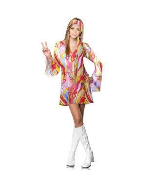 Disfraz Hippie mujer adulto para Carnaval