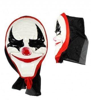 Máscara Payaso Asesino con Capucha PVC