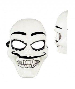 Máscara Catrín Sugar Skull B&W PVC
