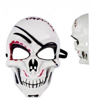 Máscara Calavera Heridas B&W PVC
