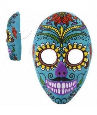 Máscara Catrín Mejicano Azul Tela