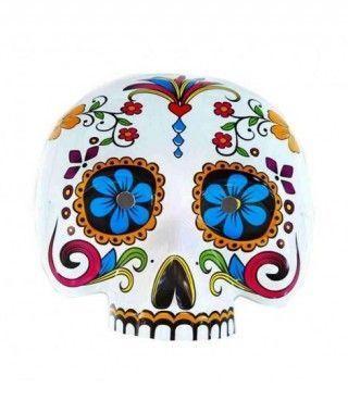 Careta Día de los Muertos Ojos Azules Tela