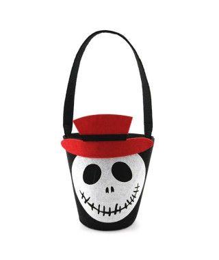 Cubo de Chucherías Truco o Trato Jack Esqueleto
