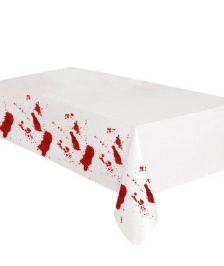 Mantel Con Sangre Plástico 275x135 cm