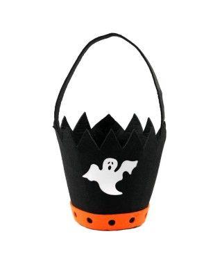 Cubo Chucherías Truco o Trato Halloween de Fantasma