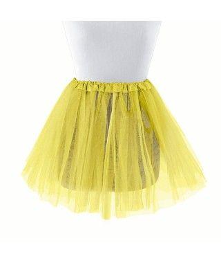 Tutú infantil amarillo bailarina 30 cm