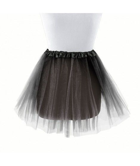 Tutú infantil negro bailarina 30 cm