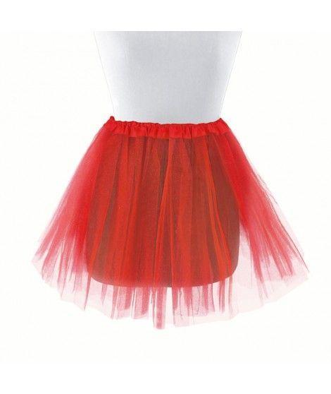 Tutú infantil rojo bailarina 30 cm