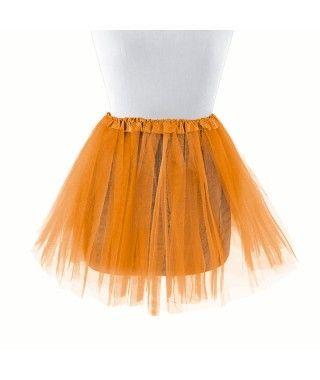 Tutú infantil naranja bailarina 30 cm