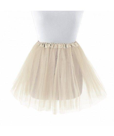 Tutú infantil beige bailarina 30 cm