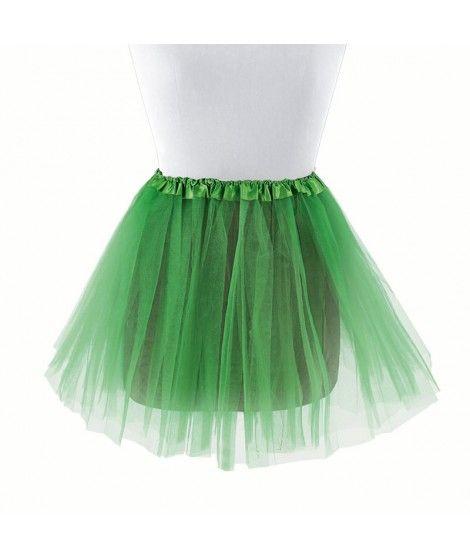 Tutú infantil verde oscuro bailarina 30 cm