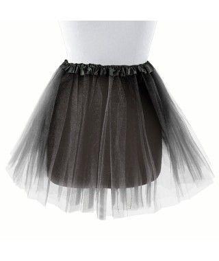 Tutú adulto negro bailarina 40 cm