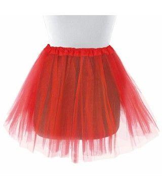Tutú adulto rojo bailarina 40 cm