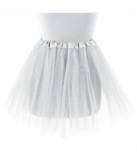 Tutú adulto blanco bailarina 40 cm