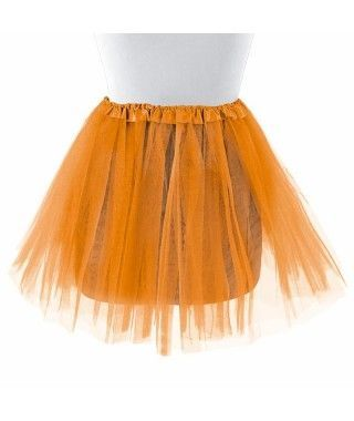 Tutú adulto naranja bailarina 40 cm