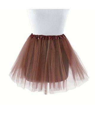 Tutú infantil marrón bailarina 30 cm