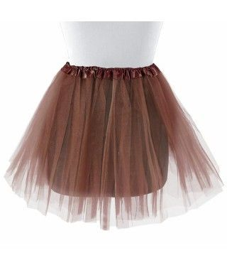Tutú adulto marrón bailarina 40 cm