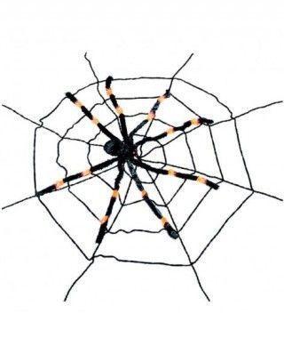 Telaraña con araña rayas 2m