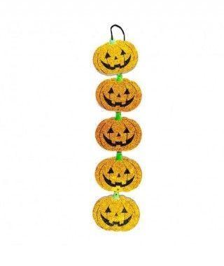 Colgante Halloween Alargado KT Calabazas 42 cm