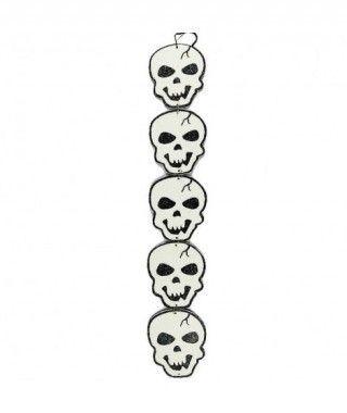 Colgante Halloween Alargado KT Calaveras 42 cm
