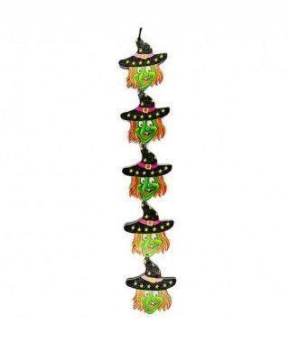 Colgante Halloween Alargado KT Brujas 42 cm