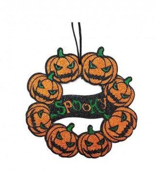 Colgante Puerta Halloween KT Calabazas 25 cm