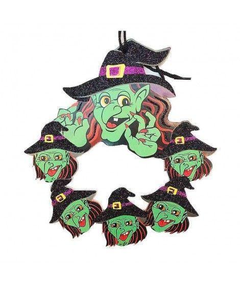 Colgante Puerta Halloween KT Brujas 25 cm