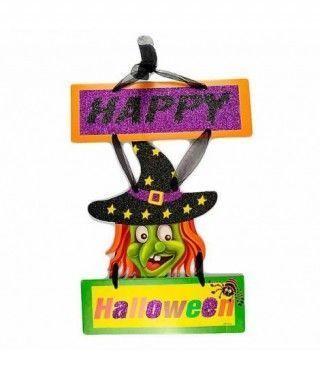 Cartel Happy Halloween Bruja KT