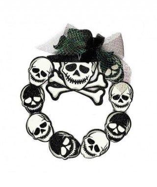 Colgante Puerta Halloween Skull Tul KT