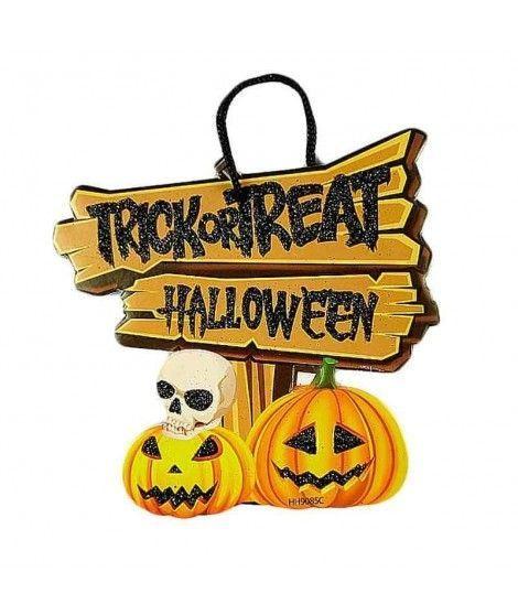 Cartel Halloween Señal Calabazas KT 20 cm