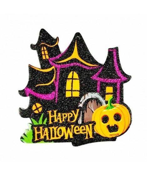 Cartel Halloween Mansión KT 20 cm