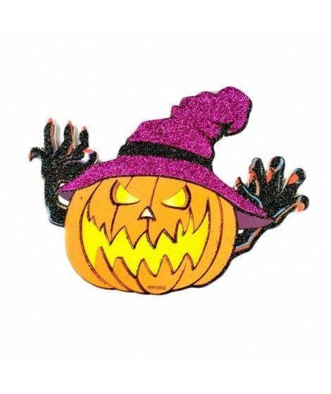 Cartel Halloween Calabaza Garras KT 20 cm