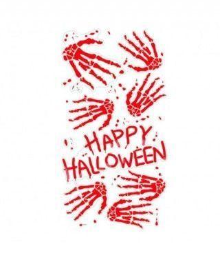 Pegatina Happy Halloween Manos